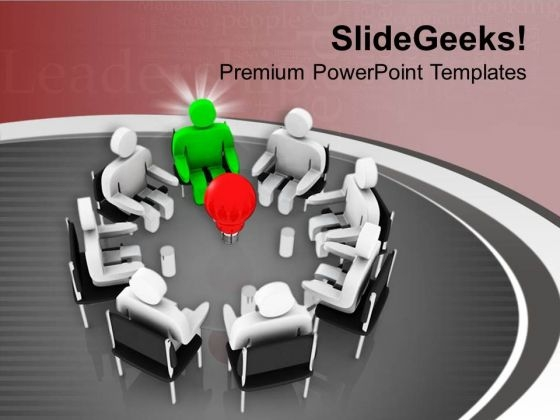 Group Of People With Leadership PowerPoint Templates Ppt Backgrounds For Slides 0713