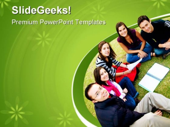 Group Of Students Education PowerPoint Templates And PowerPoint Backgrounds 0511