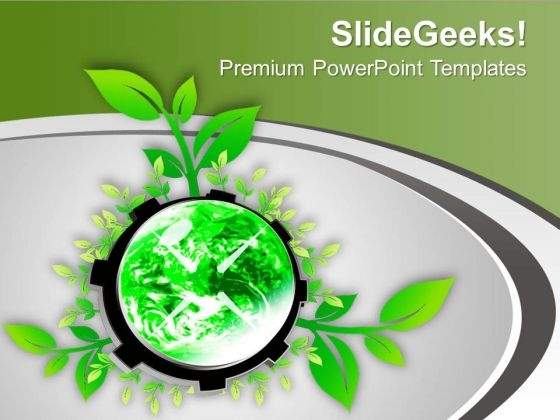 Grow A Plant And Save World PowerPoint Templates Ppt Backgrounds For Slides 0613