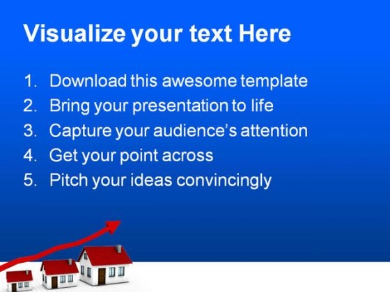 growing housing market real estate powerpoint templates and, Modern powerpoint