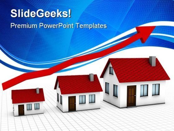 Growing Housing Market Real Estate PowerPoint Templates And PowerPoint Backgrounds 0411