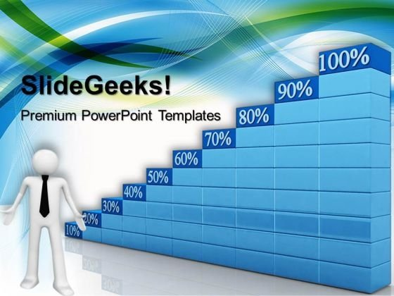 Growing Percent Graph Success PowerPoint Templates And PowerPoint Themes 0612