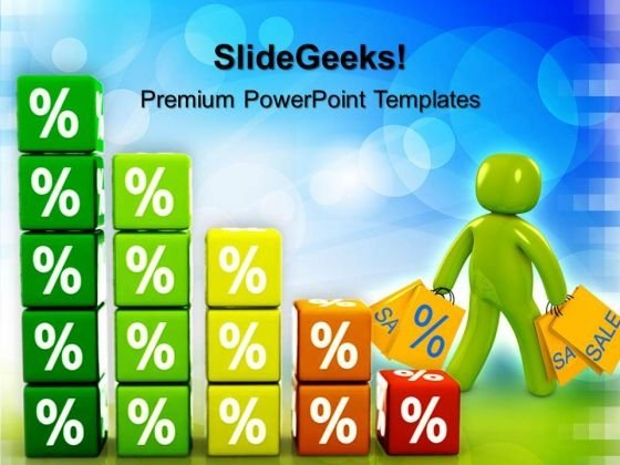 Growing Percent Sales PowerPoint Templates And PowerPoint Themes 0512