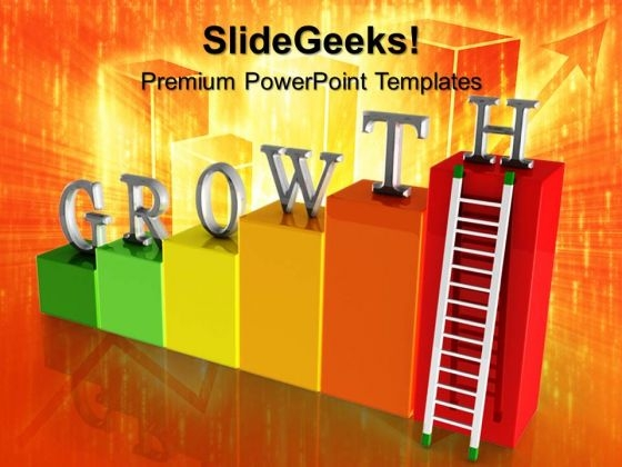 Growth Bar Graph Finance PowerPoint Templates And PowerPoint Themes 0612