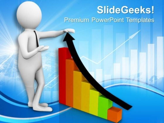 Growth Bar Graph PowerPoint Templates Ppt Backgrounds For Slides 0813