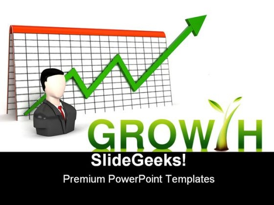 Growth Business PowerPoint Backgrounds And Templates 1210