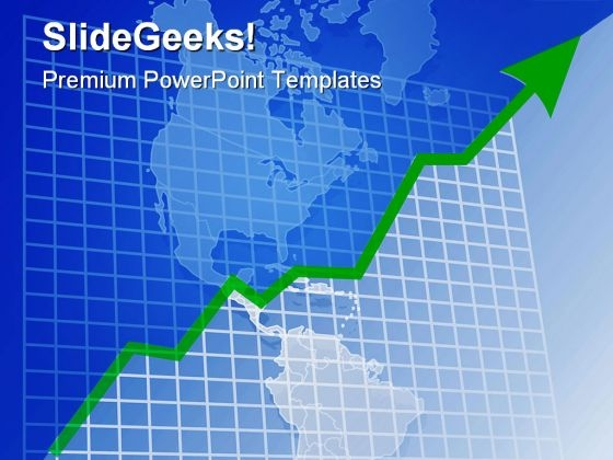 growth chart global powerpoint templates and powerpoint, Modern powerpoint
