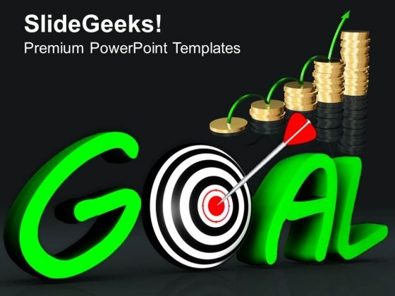 Growth Depends On Goal Acheivment PowerPoint Templates Ppt Backgrounds For Slides 0313
