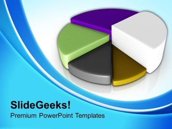 Growth Factors As Pie Chart Business PowerPoint Templates Ppt Backgrounds For Slides 0413
