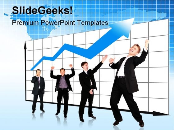 Growth Graph Business PowerPoint Templates And PowerPoint Backgrounds 0611