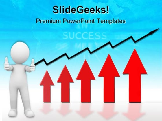 Growth Graph Business PowerPoint Themes And PowerPoint Slides 0711
