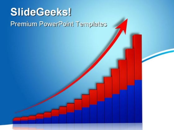 Growth Graph With Arrow01 Business PowerPoint Templates And PowerPoint Backgrounds 0611