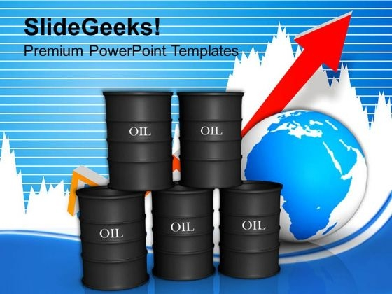 Growth In Oil Business Trading Concept PowerPoint Templates Ppt Backgrounds For Slides 0113