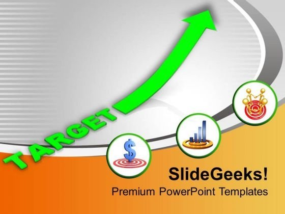 Growth In Profit And Sales Targets PowerPoint Templates Ppt Backgrounds For Slides 0313