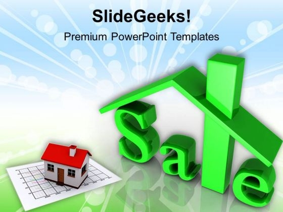 Growth In Sale Of Real Estate PowerPoint Templates Ppt Backgrounds For Slides 0413