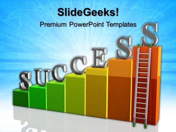 Growth Ladder Success PowerPoint Templates And PowerPoint Themes 0512
