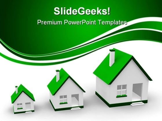 Growth Of Houses Real Estate PowerPoint Themes And PowerPoint Slides 0411