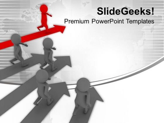 Growth Representation With 3d Graphics PowerPoint Templates Ppt Backgrounds For Slides 0413