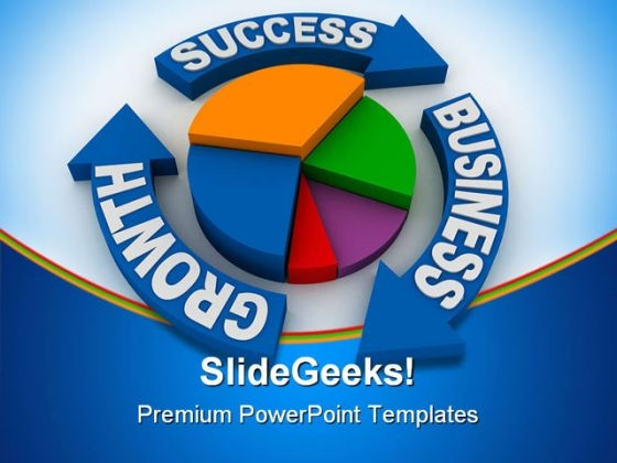 Growth Success Business PowerPoint Background And Template 1210