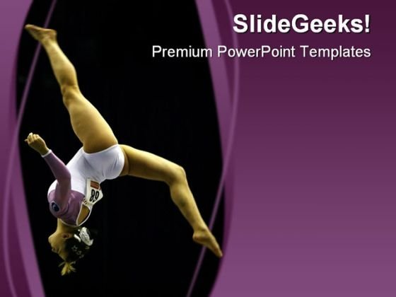 Gymnast Sports PowerPoint Template 0610