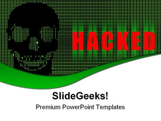 Hacked Internet Technology PowerPoint Templates And PowerPoint Backgrounds 0611