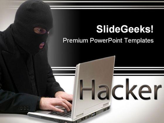Hacker People PowerPoint Template 0810