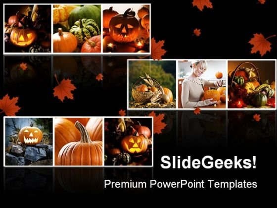 Halloween Collage Festival PowerPoint Themes And PowerPoint Slides 0511