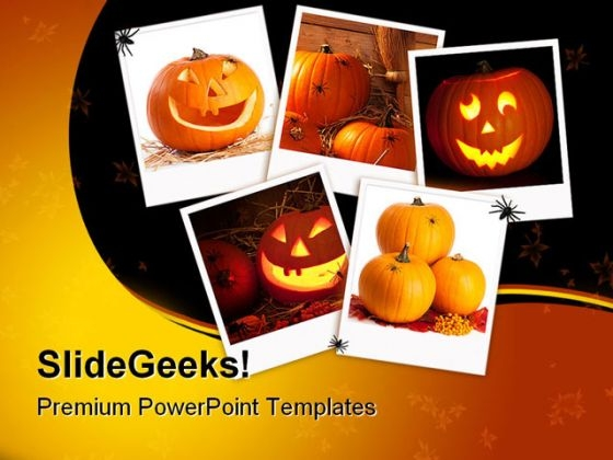 Halloween Collage Nature PowerPoint Template 1010