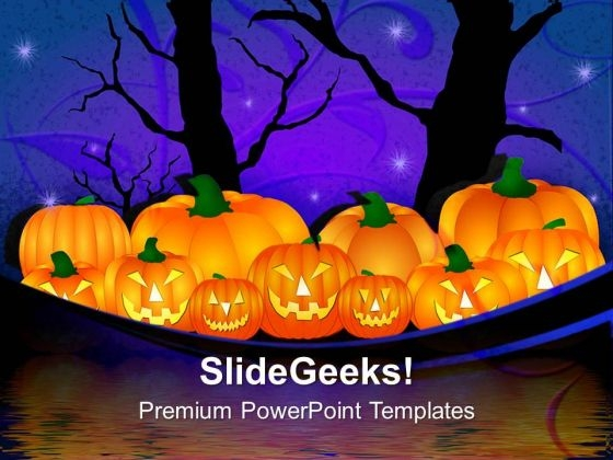 Halloween Pumpkin Nature PowerPoint Templates And PowerPoint Themes 0912