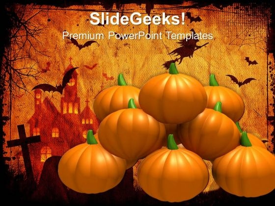 Halloween Pumpkins Festival PowerPoint Templates And PowerPoint Themes 0812