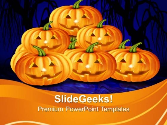 Halloween Pumpkins Vacation PowerPoint Templates And PowerPoint Themes 1012