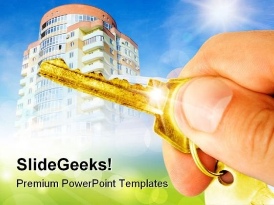 Hand Holds A Key Real Estate PowerPoint Templates And PowerPoint Backgrounds 0311