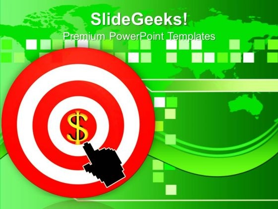 Hand Pointing Target Dollar Sign PowerPoint Templates Ppt Backgrounds For Slides 0213