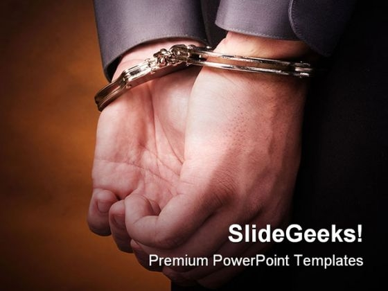 Handcuffs People PowerPoint Backgrounds And Templates 1210