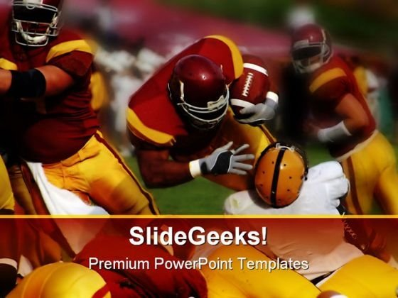 Handoff Sports PowerPoint Template 0810