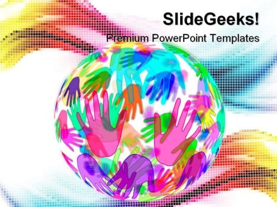 Hands Background Globe PowerPoint Templates And PowerPoint Backgrounds 0311