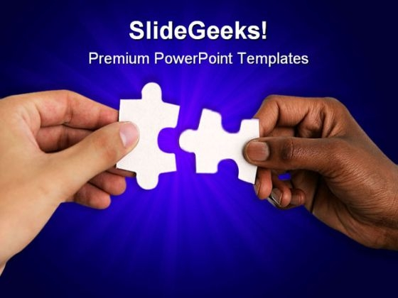 Hands With Puzzles Shapes PowerPoint Themes And PowerPoint Slides 0411