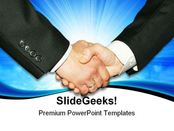 Handshake02 Business PowerPoint Templates And PowerPoint Backgrounds 0511
