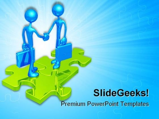 Handshake05 Business PowerPoint Templates And PowerPoint Backgrounds 0511