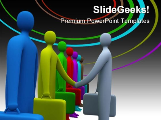Handshake06 Business PowerPoint Themes And PowerPoint Slides 0511