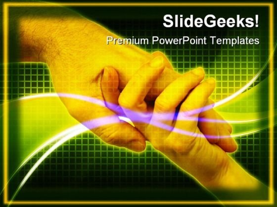 Handshake Abstract PowerPoint Templates And PowerPoint Backgrounds 0411