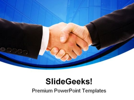 Handshake Business PowerPoint Templates And PowerPoint Backgrounds 0311