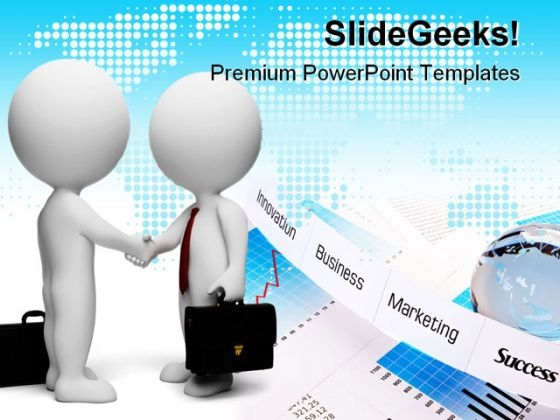 Handshake Business PowerPoint Themes And PowerPoint Slides 0511