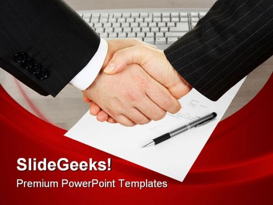 Handshake Business PowerPoint Themes And PowerPoint Slides 0711