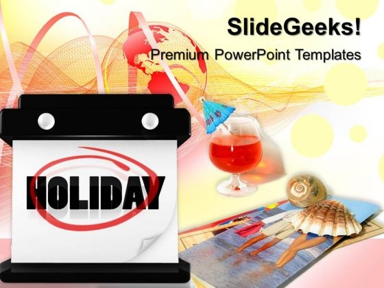 Hanging Wall Calendar Holidays PowerPoint Templates And PowerPoint Themes 0712