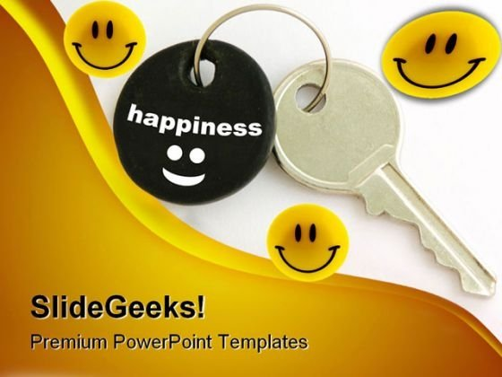 Happiness Key Security PowerPoint Templates And PowerPoint Backgrounds 0311