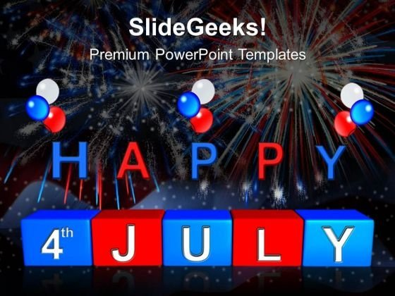 Happy 4th July Usa America PowerPoint Templates And PowerPoint Themes 0612