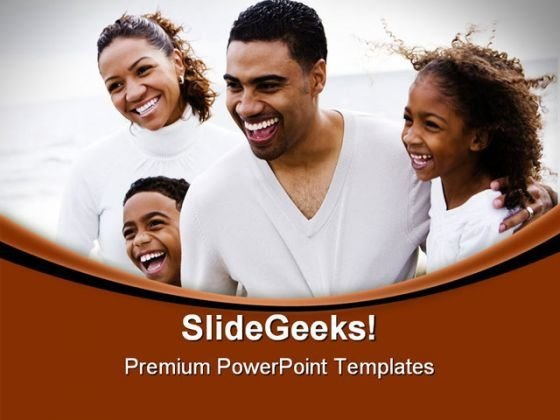 Happy African American Family People PowerPoint Templates And PowerPoint Backgrounds 0711