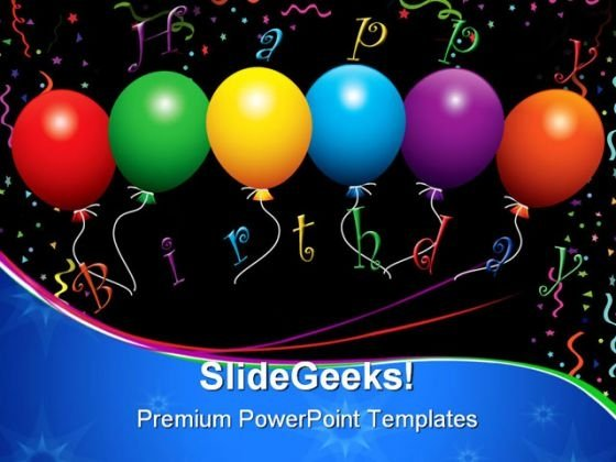 Happy Birthday Balloons Events PowerPoint Templates And PowerPoint Backgrounds 1211