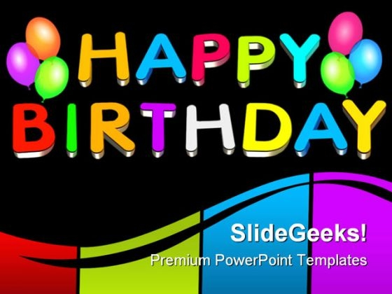 Happy Birthday Balloons Events PowerPoint Themes And PowerPoint Slides 0511